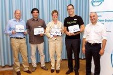 Die Gewinner der Open Source Awards. Ganz links Thomas Brändle von Run my Accounts