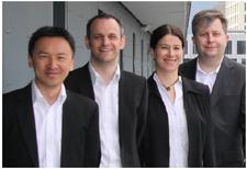 Das Team von YouRehab  v.l.n.r. Kynan Eng, Oliver Ullmann, Edith Chevrier und Pawel Pyk