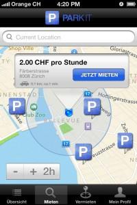 Die App von Park-it