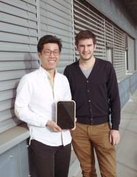 James Chiang (l.) und Matthias Wiget von Eturnity