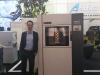 Additively-Gründer Matthias Baldinger letzte Woche an der EuroMold, der grössten Messe für 3D-Druck, in Frankfurt am Main