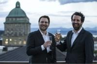 Die Gewinner Yann Tissot und Simon Rivier  von L.E.S.S.