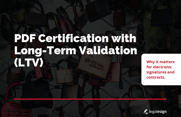 Image for PDF Certification with LTV for E-signature software
