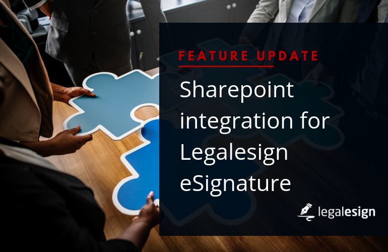 Image for SharePoint integration for Legalesign eSignature