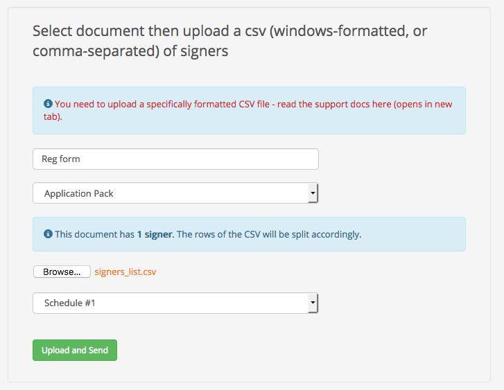 e-signature process