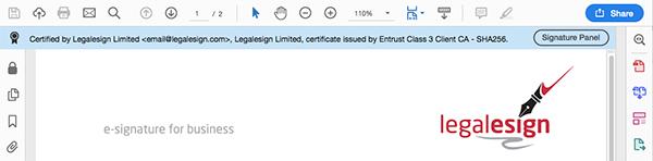 image of certified pdf blue blanner