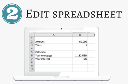 Ediit spreadsheet