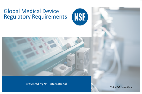 NSF International - Medical Devices e-Learning Portal
