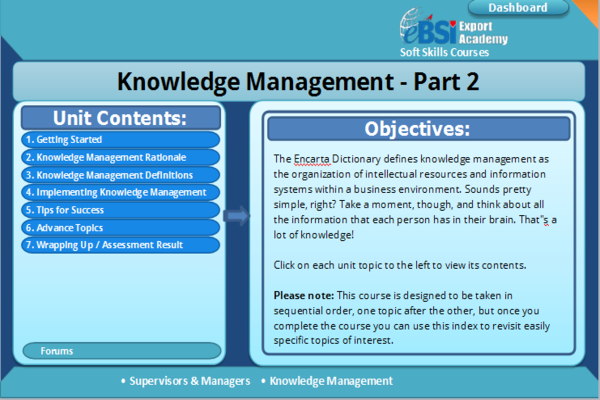 Description The Encarta Dictionary Defines Knowledge Management As Organization Of