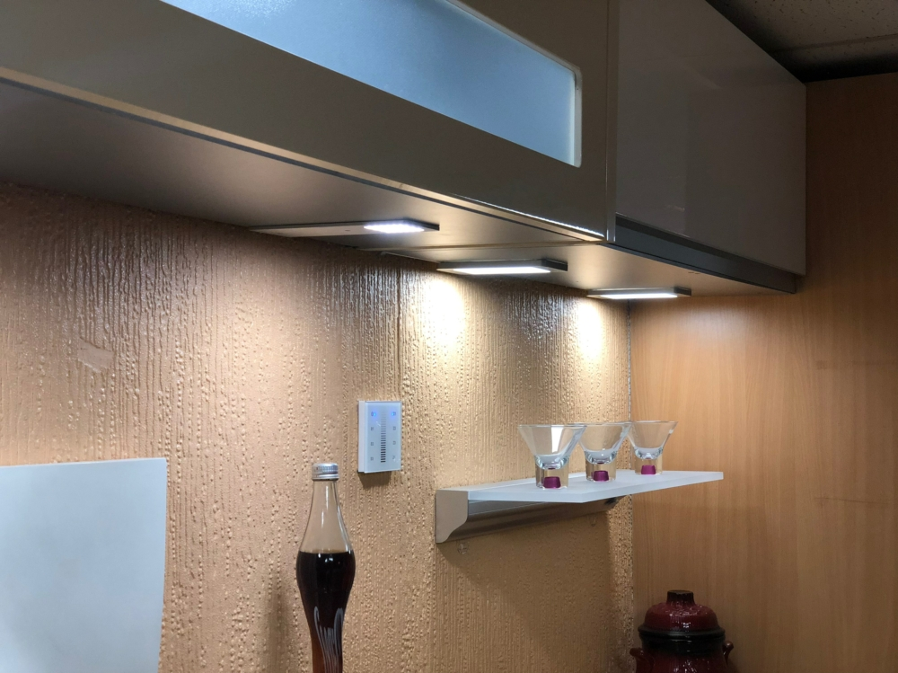 Showroom under cabinet lights