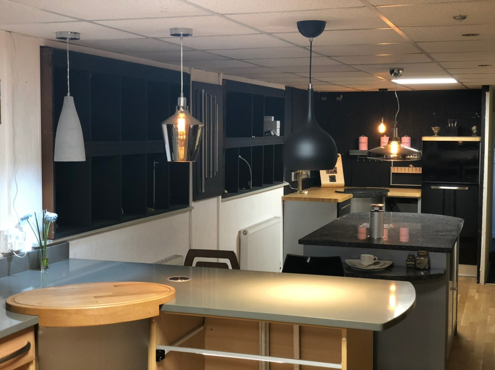 Showroom kitchen lights