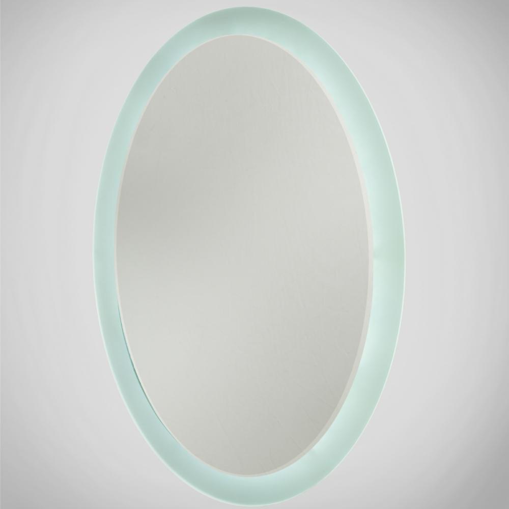 Oval LED Illuminated Bathroom Mirror