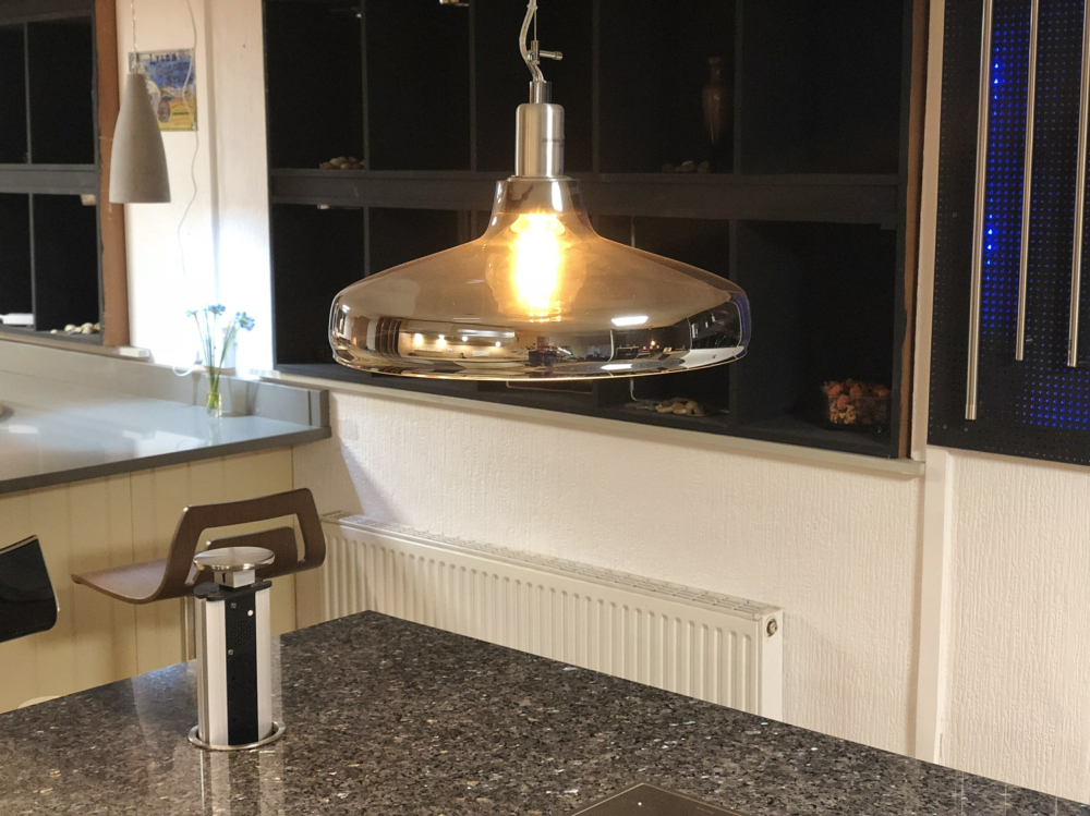 Pendant light in showroom