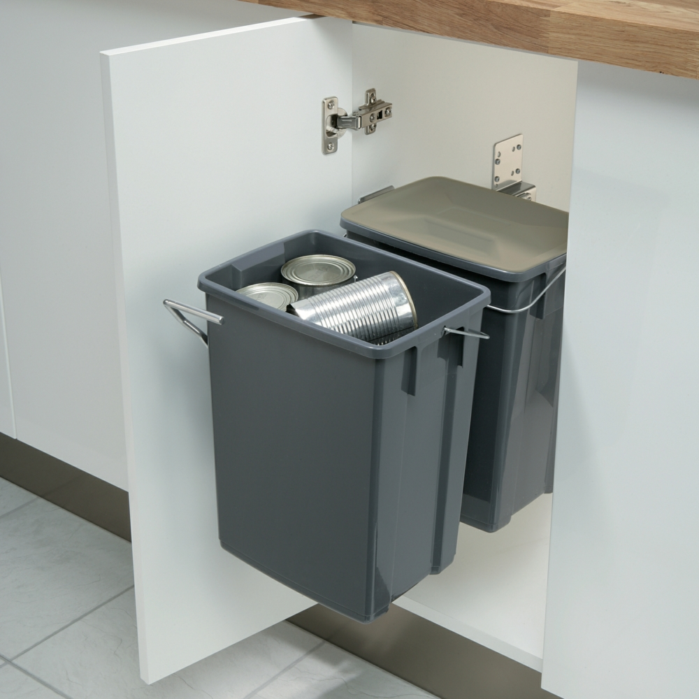 Hafele Recycling Pull Out Waste Bins 20 Litres