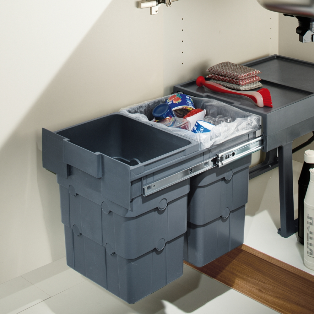 Hafele - WasteBoy Pull Out Waste Bin, 2 x 16 Litres