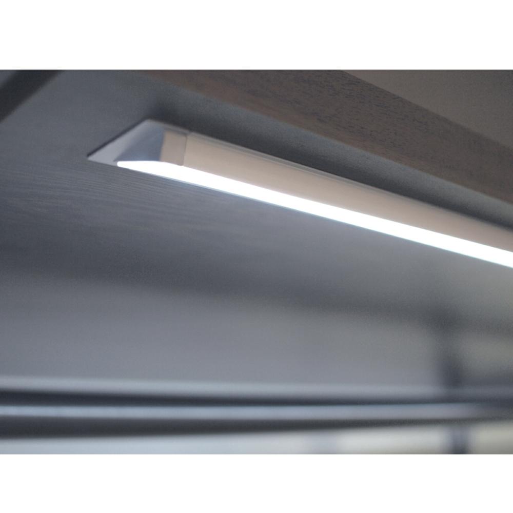 Semi recessed angled LED extrusion profile