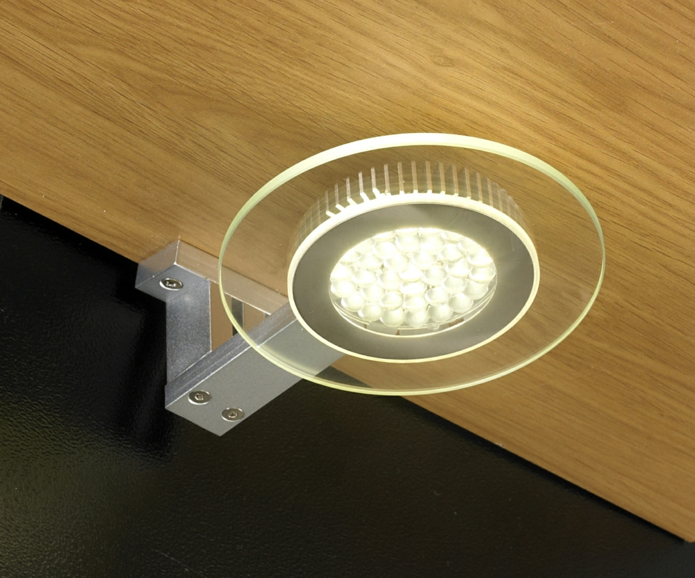 Halo 25w led under cabinet circular glass light mozeypictures Images