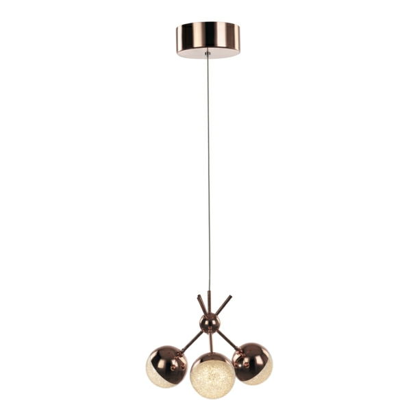 Eclipse 3 Light Cluster LED Ceiling Pendant Light, IP20 Rated
