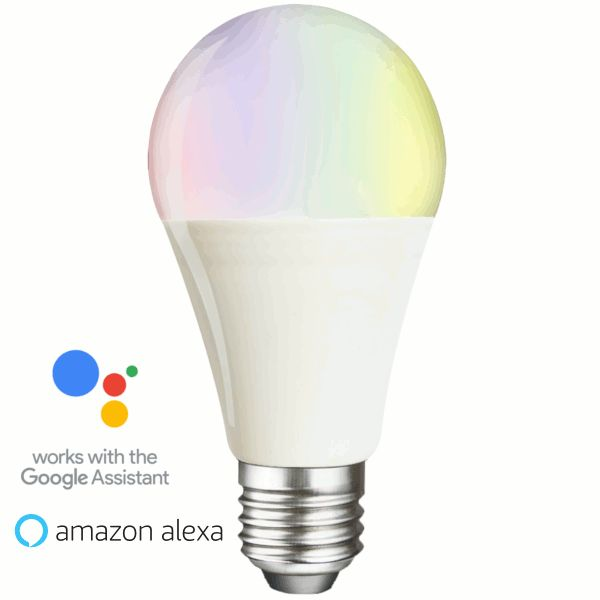 Smart colour changing LED bulb