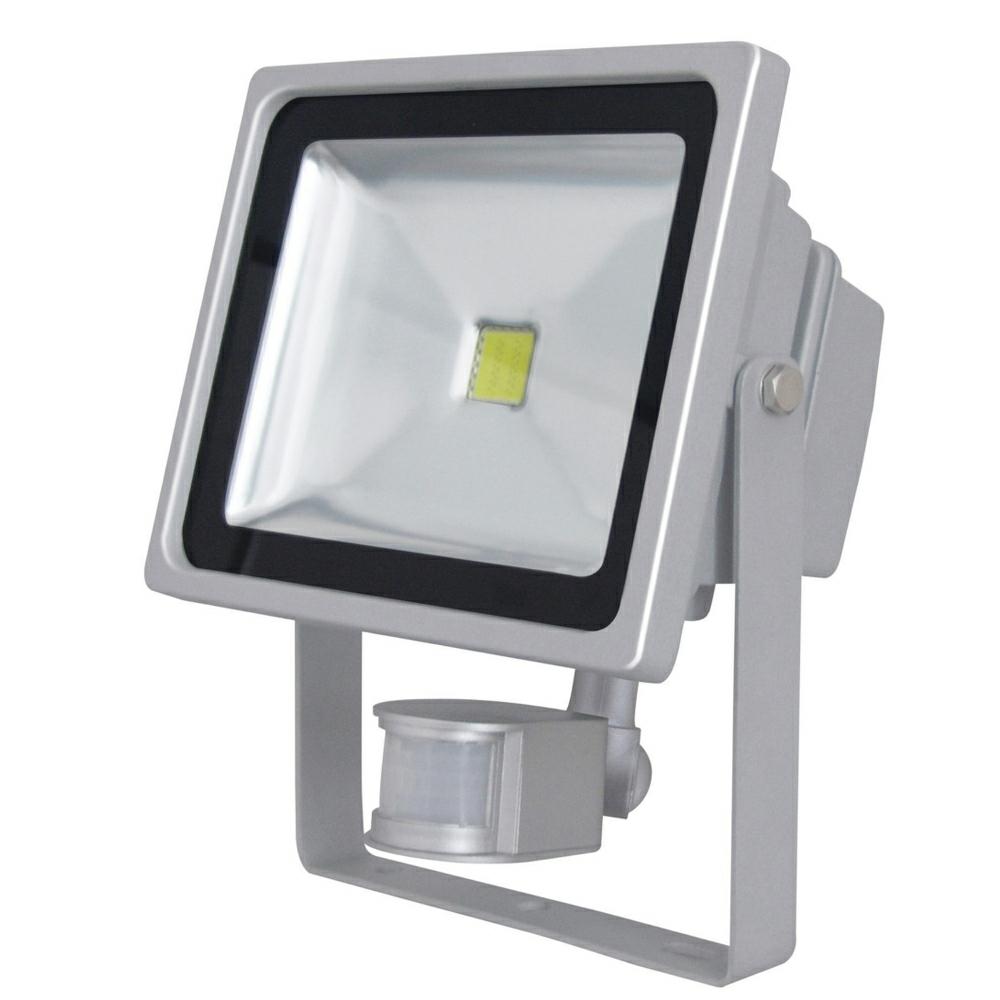 kinver 55w outdoor led flood light with pir sensor