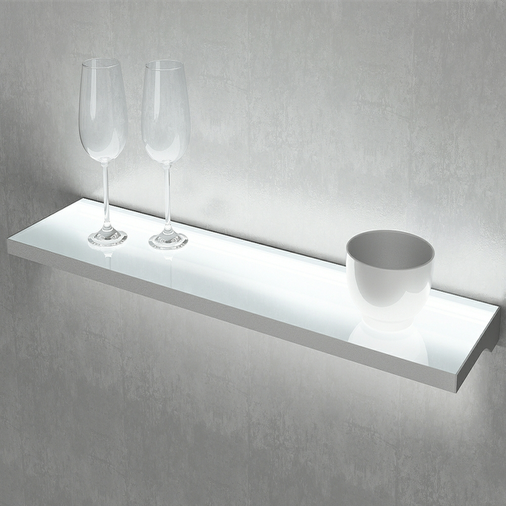 Illuminated LED shelf