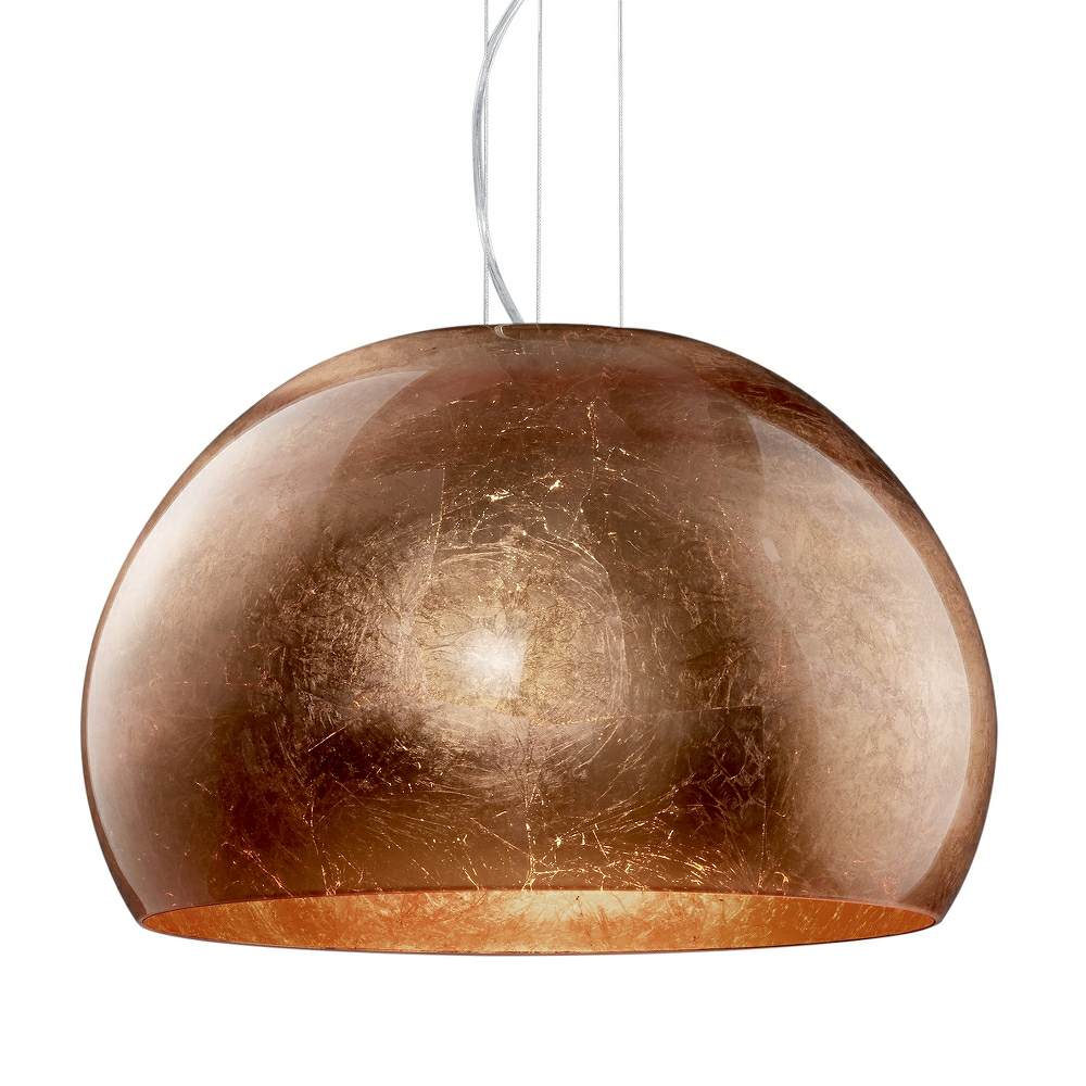 Ontario Copper Glass And Chrome Glass Pendant Light
