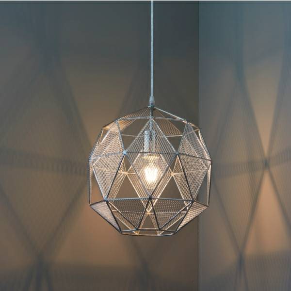 pendant light in the corner of the room