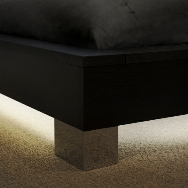 Plinth lighting under bed
