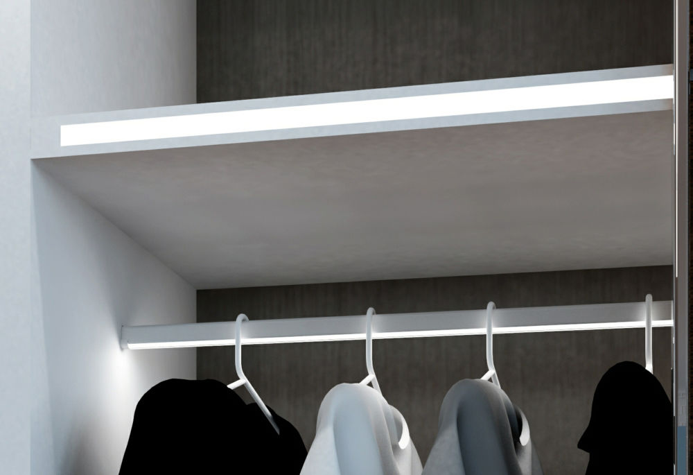 wardrobe led hanging rail