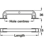Hafele Handle - Loft Antique D Pull Cupboard Handles
