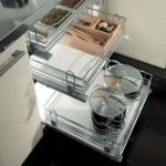 Chrome Pull-out Wire Basket - Soft Close