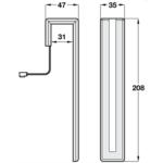 Hafele Loox MOVE Thin LED Head Board Bed Light