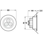 Hafele Loox LED K-3 Ceiling Light Fitting - With Swivel Adjustment