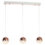Eclipse 3 Sphere Bar LED Ceiling Pendant Light, IP20 Rated