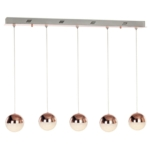 Eclipse 5 Light Ceiling Bar Pendant, Adjustable, IP20 Rated