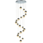 Eclipse 20 Light Round Drop Adjustable LED Ceiling Pendant