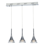 Jewel, 3 Light LED Ceiling Bar Pendant, Adjustable, IP20 Rated