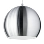 Globe Matt Nickel Modern Pendant Lighting