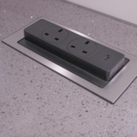 Evoline Back Flip Worktop Socket
