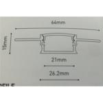 Plaster In Wall Profile - LED Aluminium Extrusion