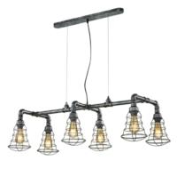 Gotham 6 Light Drop Industrial Pendant Lighting