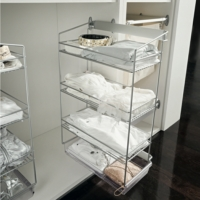 Vibo DREAM pull out unit, side mounted storage racks