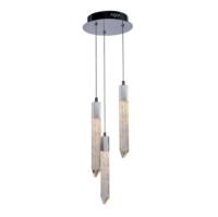 Shard 3 Light LED Ceiling Drop Pendant IP20 Rated