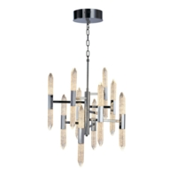 Shard 20 Light, 10 Arm LED Ceiling Pendant Light, IP20 Rated