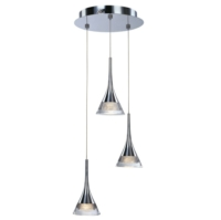 Jewel 3 Light LED Ceiling Pendant IP20 Rated