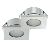 Loox 12V 2023 Square LED Recessed Downlight - Chrome Finish