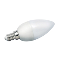 5 Watt COB LED Candle Bulb - Frosted - Warm White