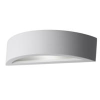 Cadiz - Gypsum Curved LED Wall light With Diffuser