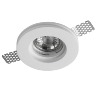 Leon - Gypsum Plaster-In Recessed Baffled Ceiling Downlight