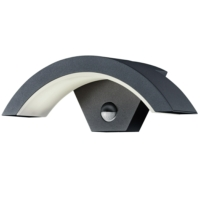 OHIO - IP54 9W LED Garden Wall Lights With PIR Sensor
